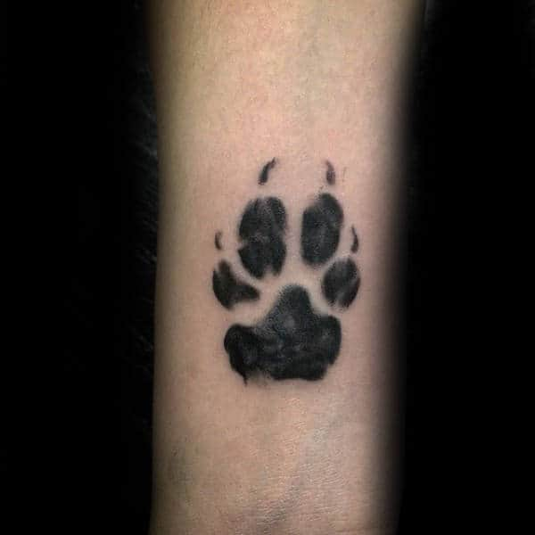 Small Guys Dog Paw Tattoo Inspiration On Inner Forearm