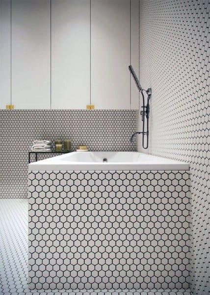 Small Hexagon Remarkable Ideas For Bathtub Tile