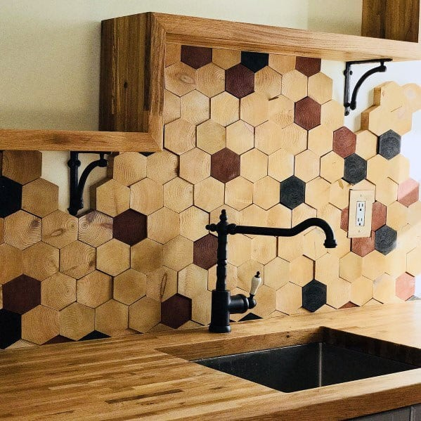 Wall Kitchen Design: Top 60 Best Wood Backsplash Ideas