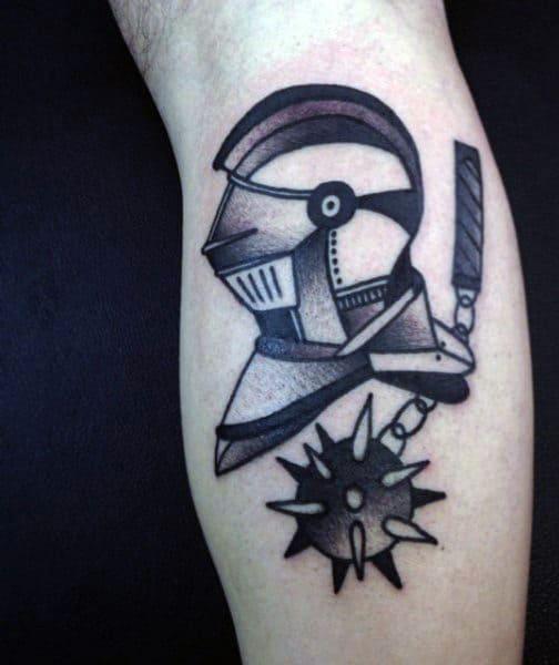 Small Holy Sepulchre Knight Tattoos On Men