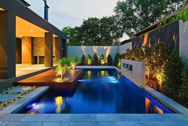 Small Home Backyard Pool Lighting