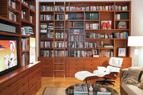 Small Home Library Reading Room & 90 Home Library Ideas For Men - Private Reading Room Designs