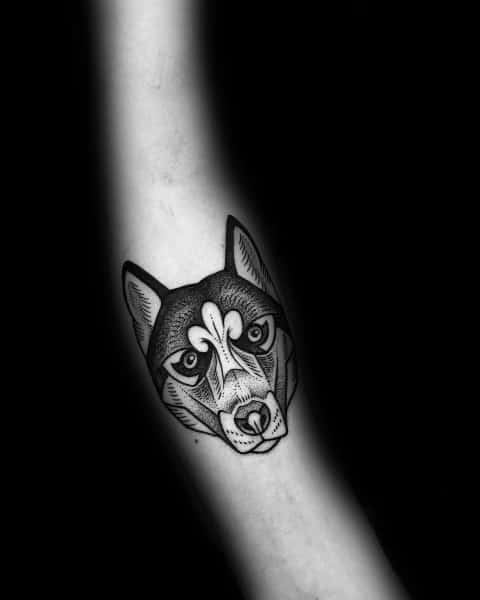 Small Husky Tattoos For Men On Forearm