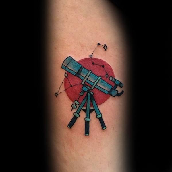 Small Inner Forearm Guys Telescope Tattoos