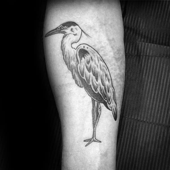 70 heron tattoo designs for men coastal bird ink ideas rh nextluxury com Simple Bird Tattoos great egret tattoo