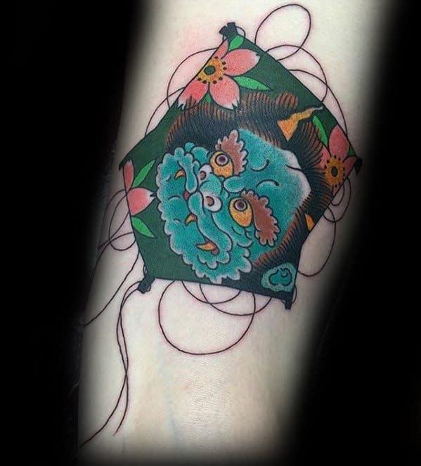 Small Inner Forearm Japanse Kite Guys Tattoos