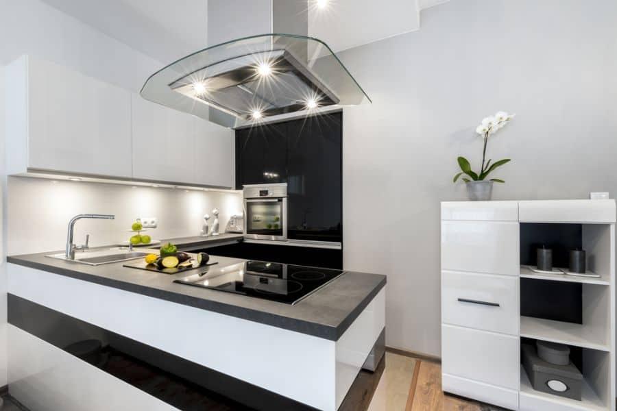 Small Kitchen Black And White Kitchen 1