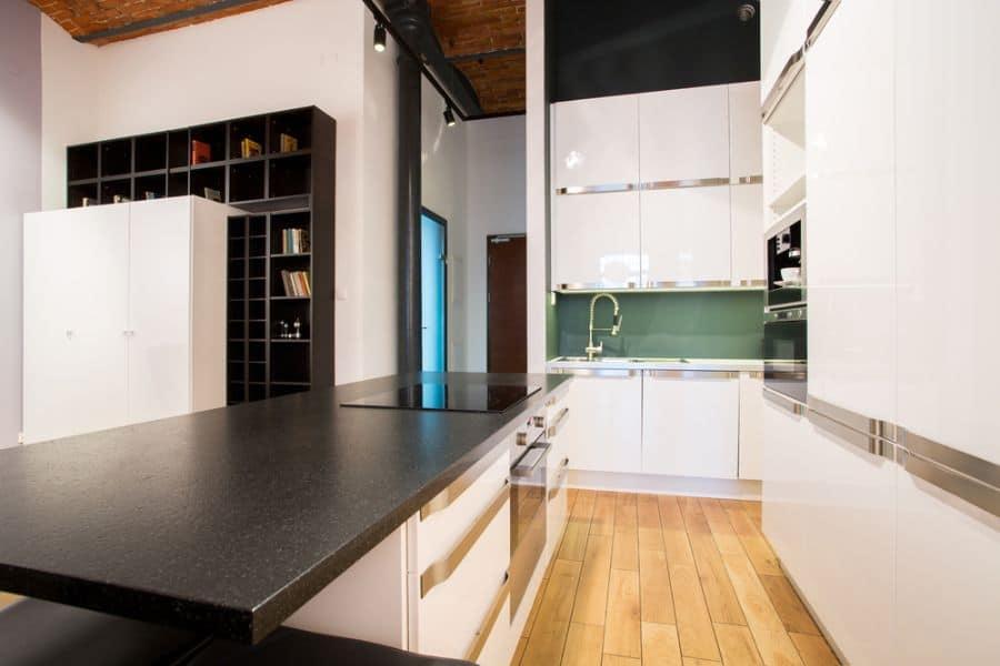 Small Kitchen Black And White Kitchen 10