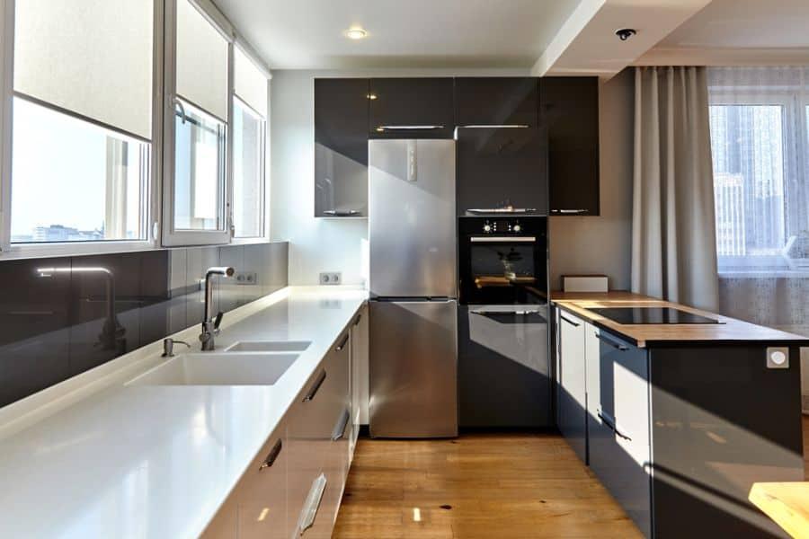 Small Kitchen Black And White Kitchen 11
