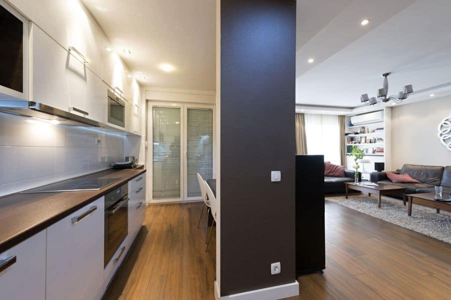 Small Kitchen Black And White Kitchen 12