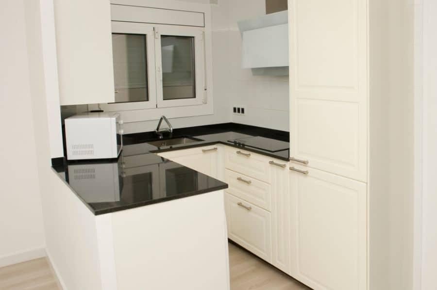 Small Kitchen Black And White Kitchen 13