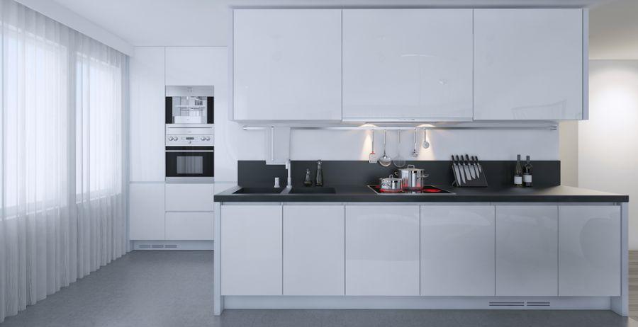Small Kitchen Black And White Kitchen 2