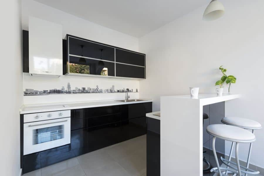 Small Kitchen Black And White Kitchen 3