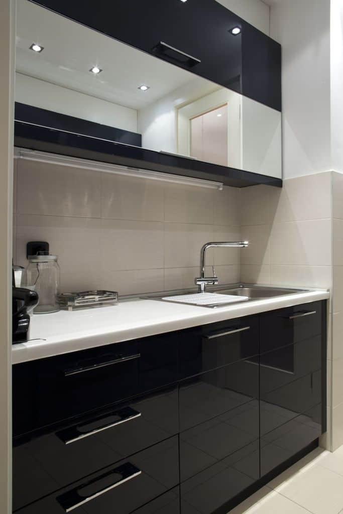 Small Kitchen Black And White Kitchen 5