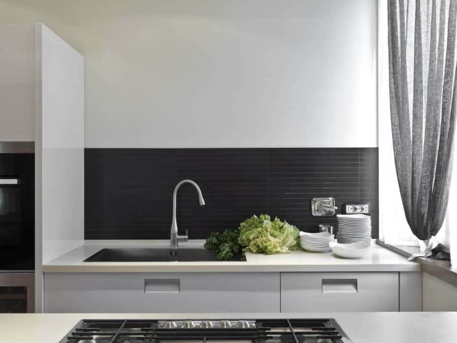 Small Kitchen Black And White Kitchen 6