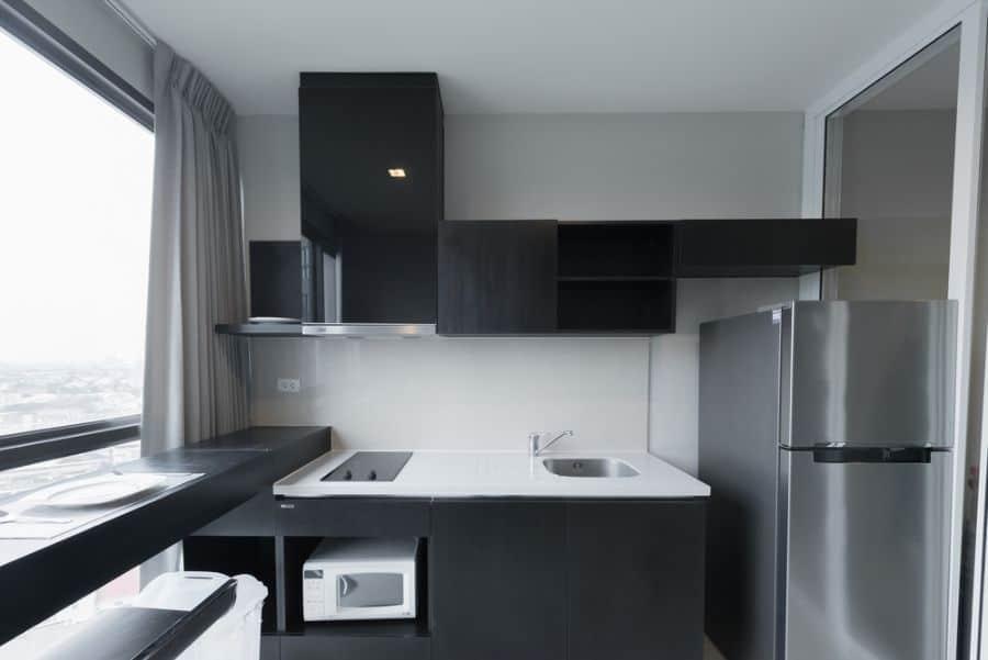 Small Kitchen Black And White Kitchen 7