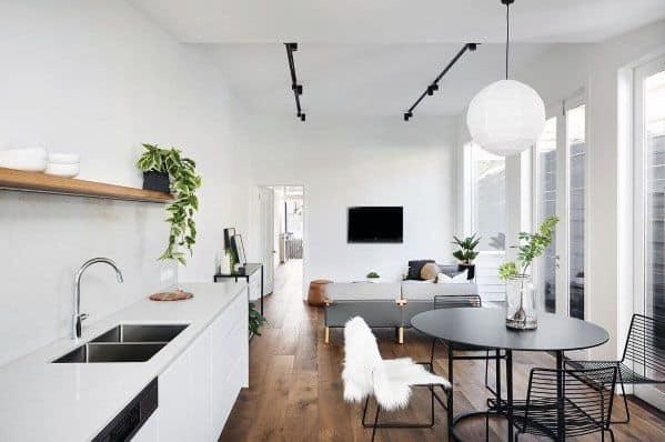 Small Kitchen Home Interior Track Lighting