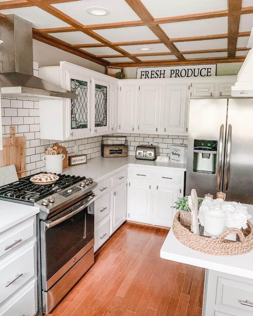 Small Kitchen Modern Farmhouse Kitchen Redbrickfauxfarmhouse