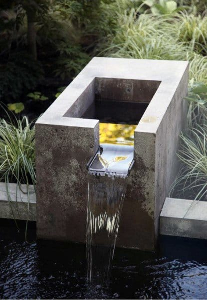 Small Koi Pond Ideas Fountain Cast Concrete Waterfall Design