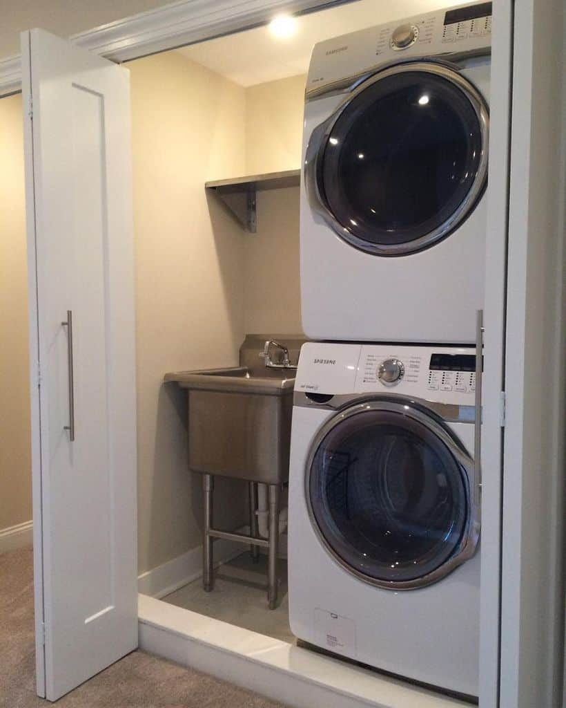 small laundry closet ideas jasonluckey
