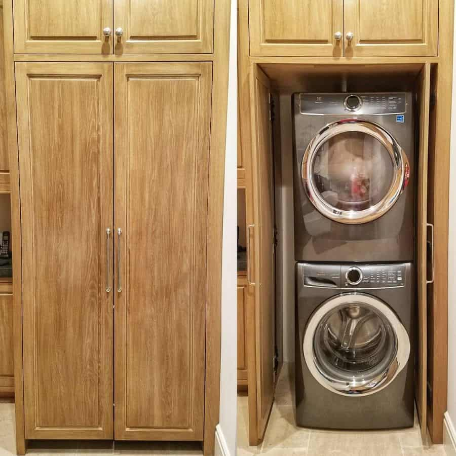 small laundry closet ideas orangecountywoodworks
