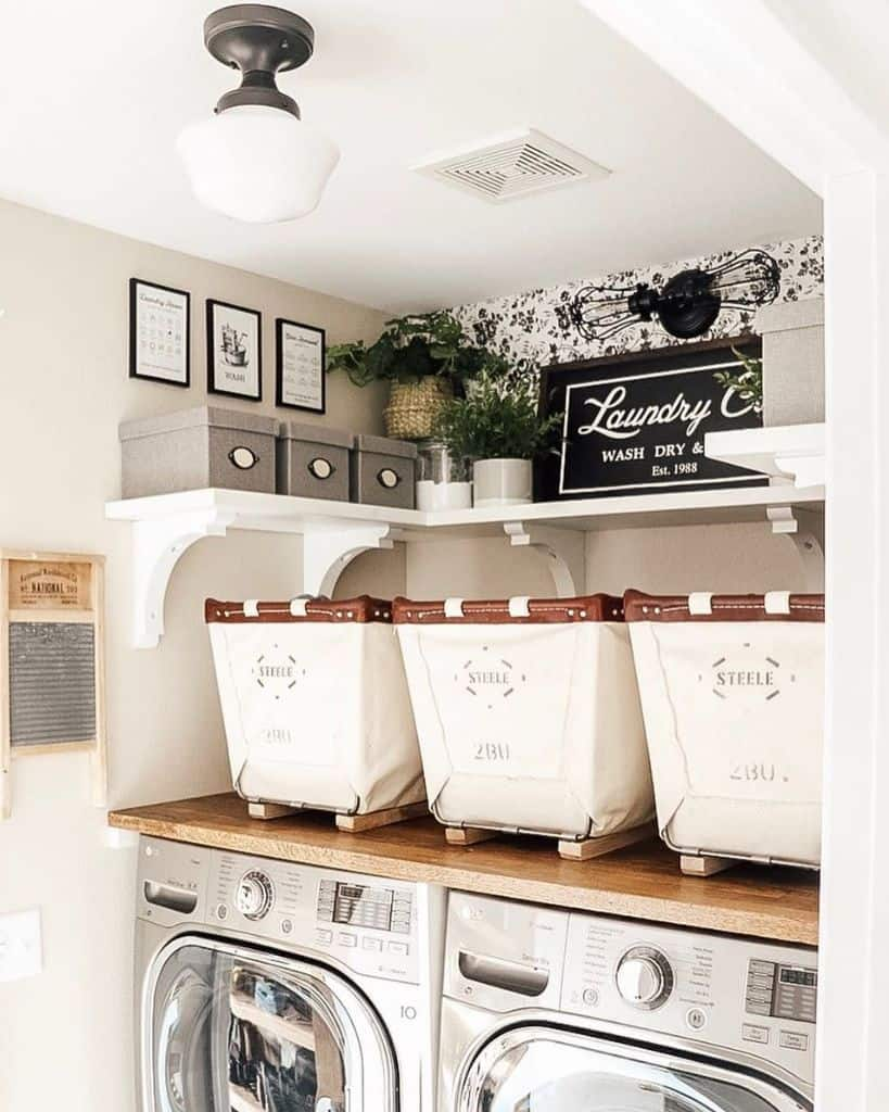 Small Laundry Room Organization Freshfarmhousefeels