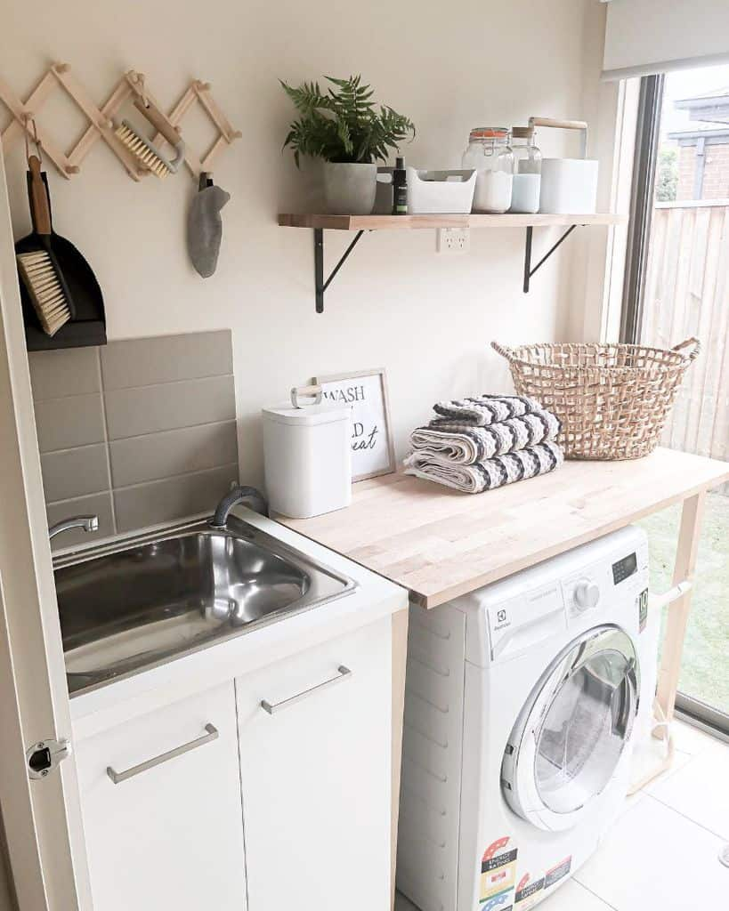 Small Laundry Room Storage Homeandtribe