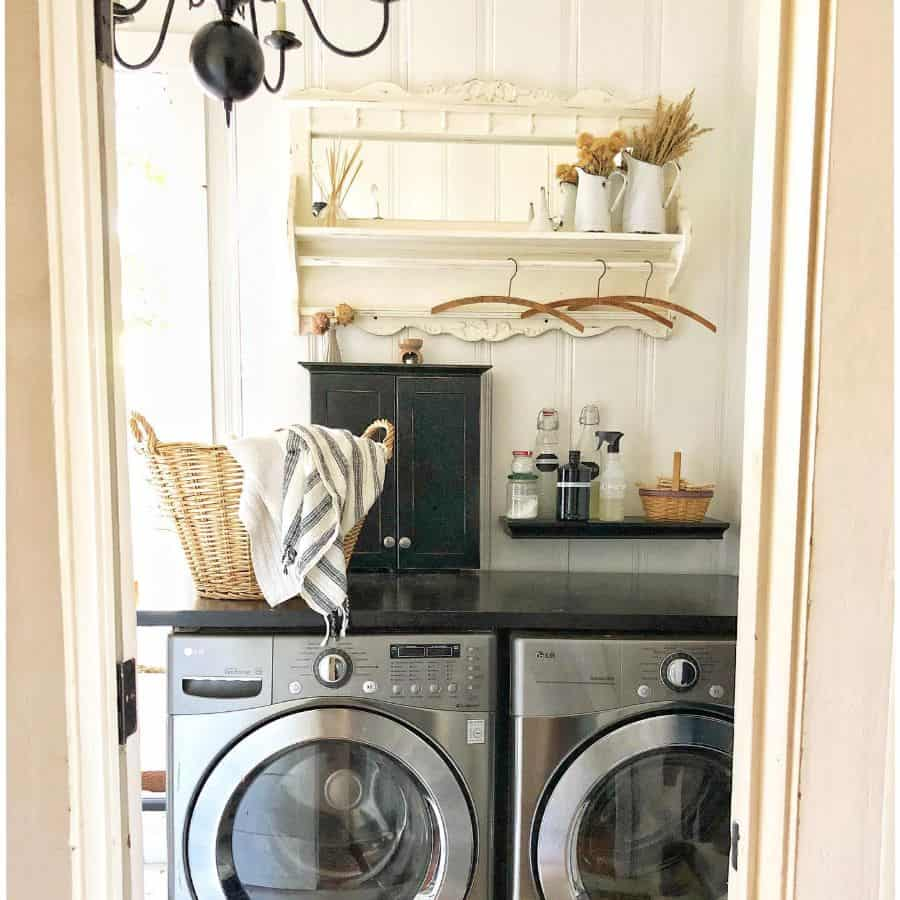 Small Laundry Room Storage Shadygrovecottage