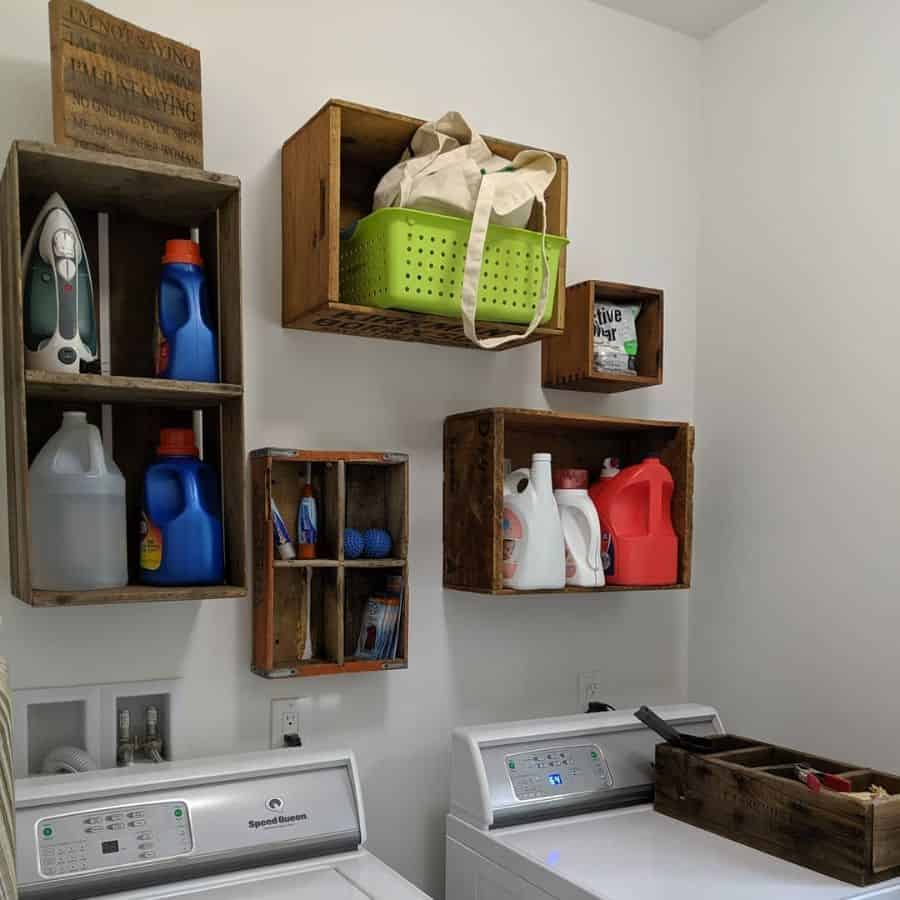 Small Laundry Room Storage Stickyfloorsandhappykids