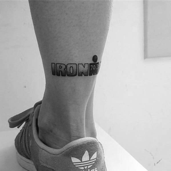 Small Leg Guys Ironman Triathlon Tattoo