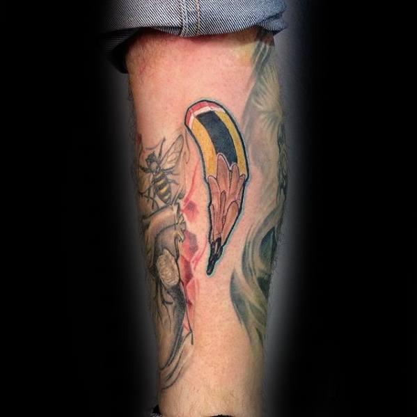 Small Leg Male Cool Pencil Tattoo Ideas