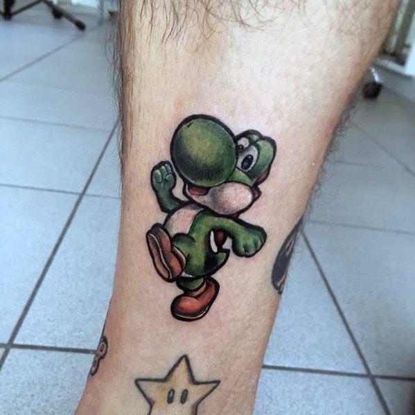 Small Leg Yoshi Male Video Game Tattoo Designs