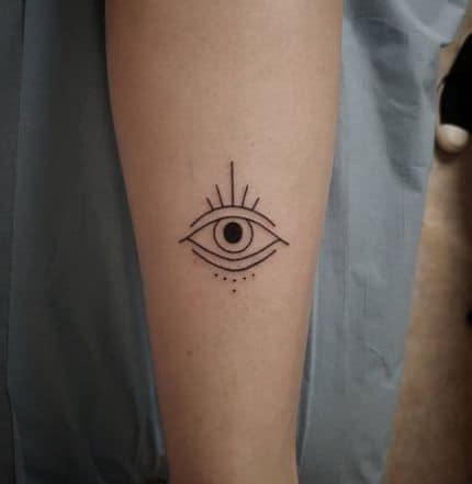 Small Line Eye Tattoo