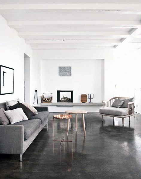 Top 50 Best Concrete Floor Ideas - Smooth Flooring Interior ...