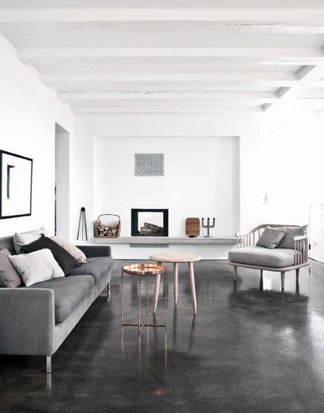 Small Living Room Concrete Floor Ideas