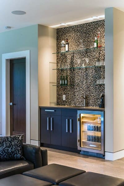 Small Living Room Wet Bar Ideas