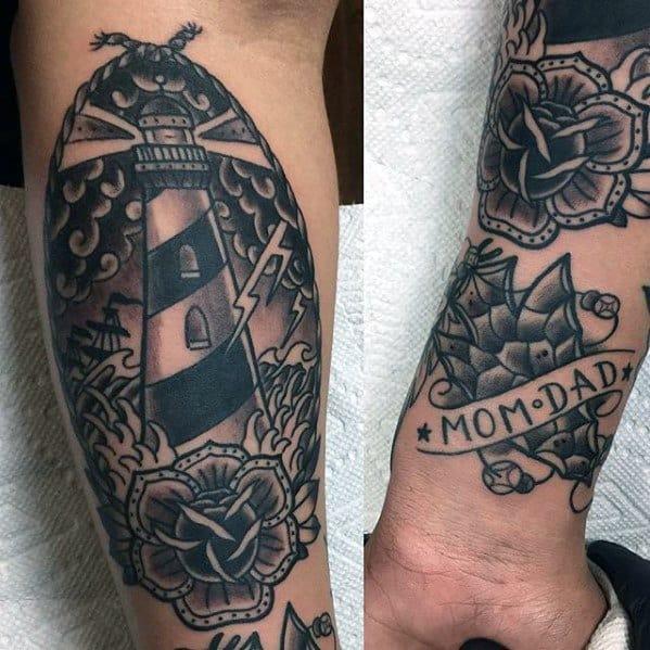 Small Lower Leg Traditional Mom Guys Tattoos