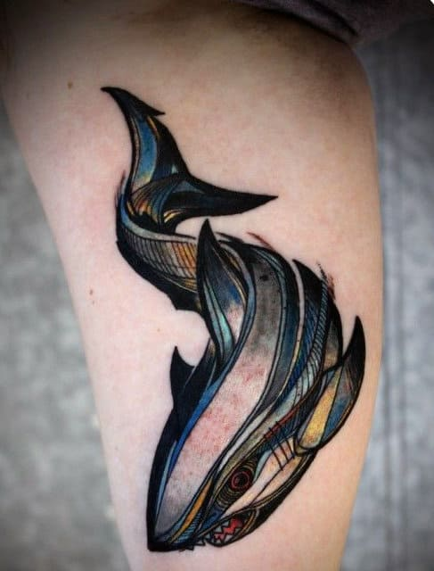 Shark Teeth Tattoo: 90 Shark Tattoo Designs For Men
