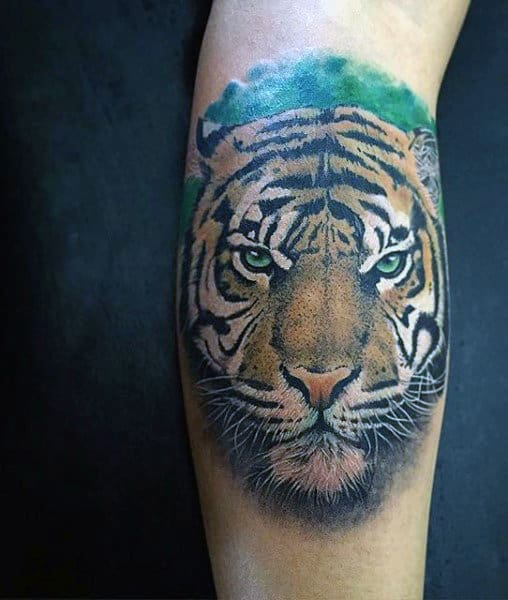 100 tiger tattoo designs for men king of beasts and jungle for Tiger tattoo face