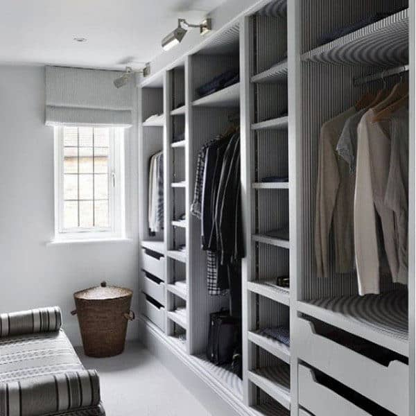 Small Mens Closet Ideas White Paint