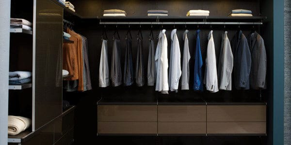 Small Mens Organized Closet Inspiration