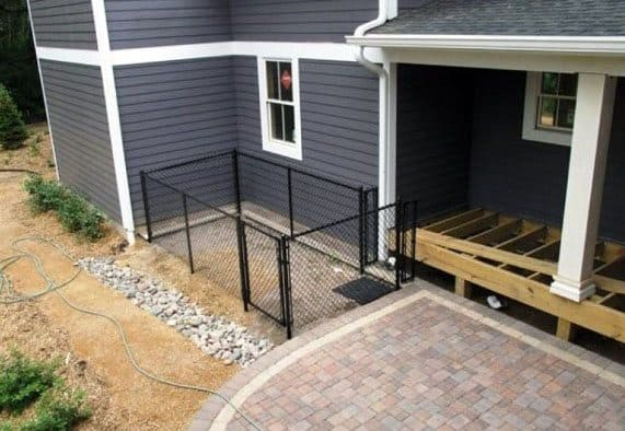 Small Metal Chain Link Dog Fence Ideas