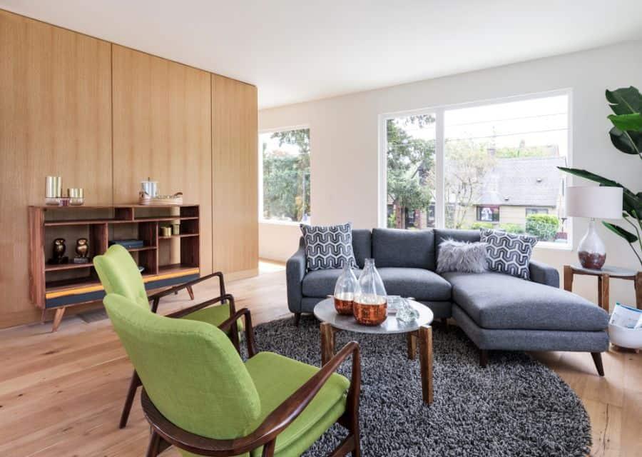 Small Mid Century Modern Living Room 1
