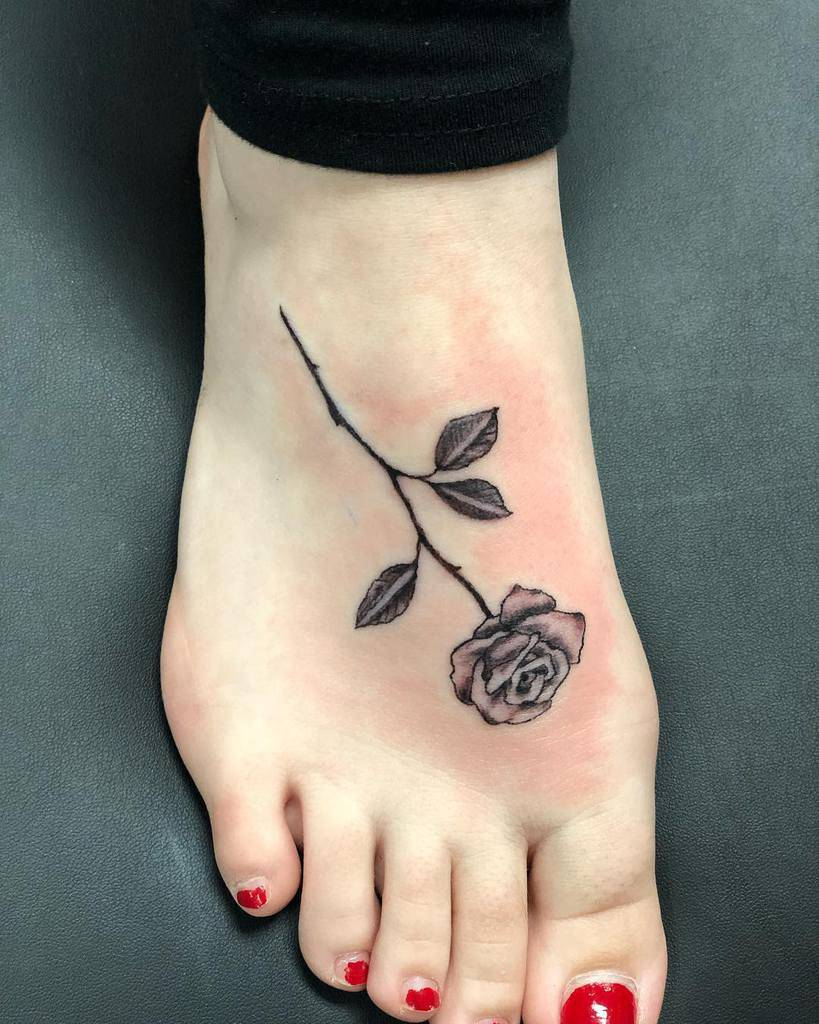 small minimalist black and grey rose tattoos rosesrequired