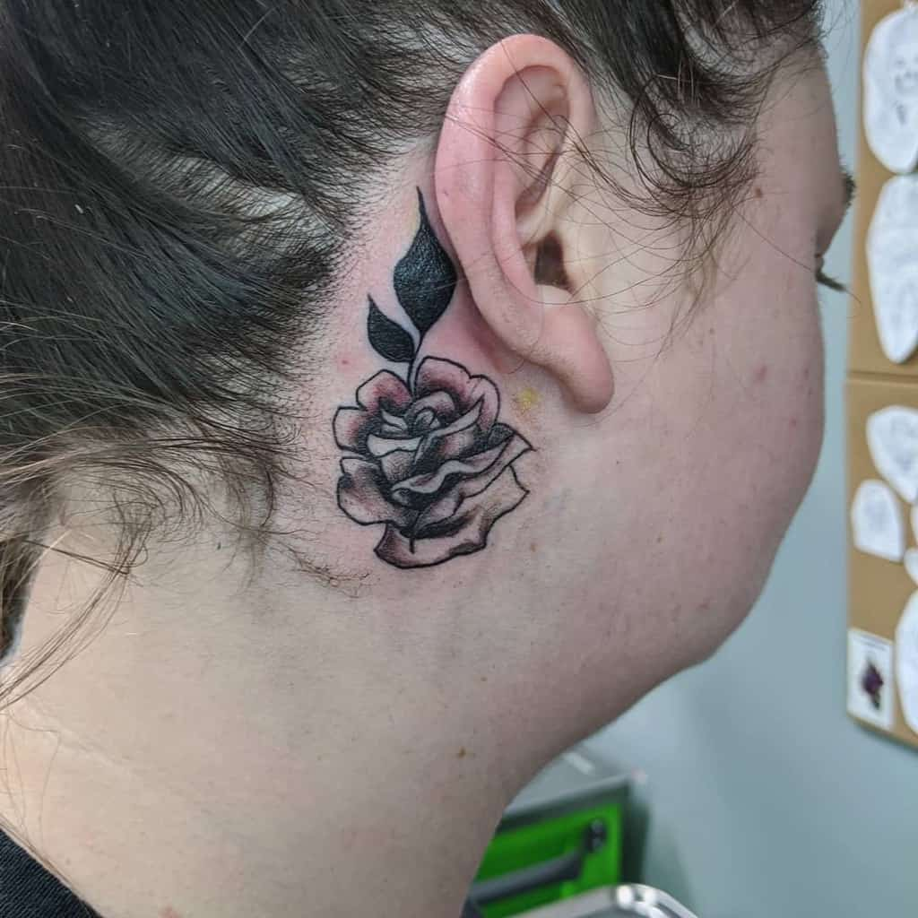 small minimalist rose neck tattoos narniatattoos