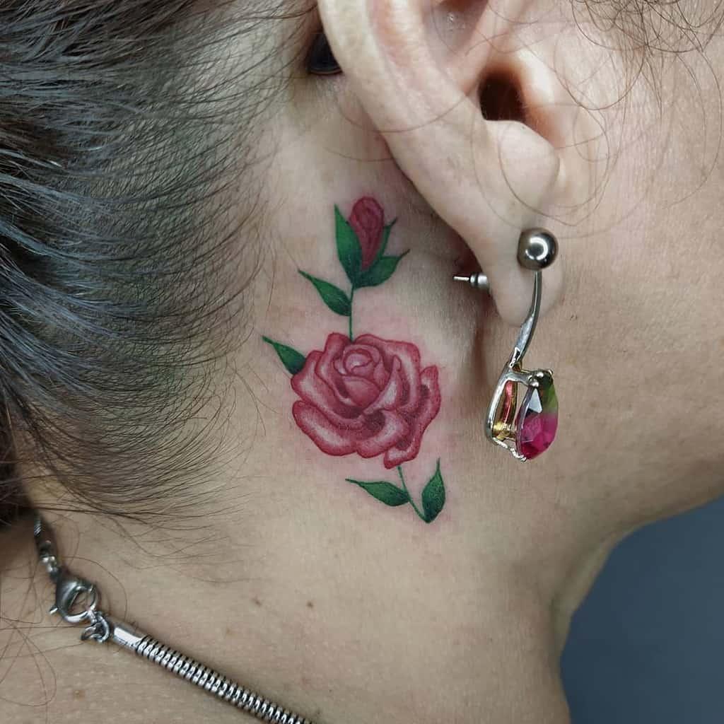 Top 71 Best Rose Neck Tattoo Ideas - 2020 Inspiration Guide
