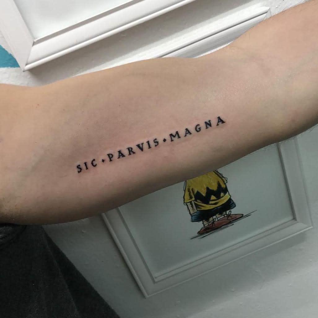 Small Minimalist Sic Parvis Magna Tattoos Jaimefalc0n