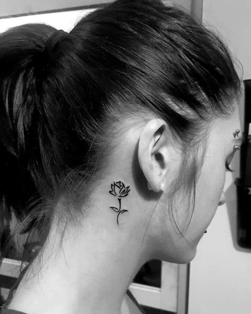 small minimalist simple rose tattoos ironiketattoos
