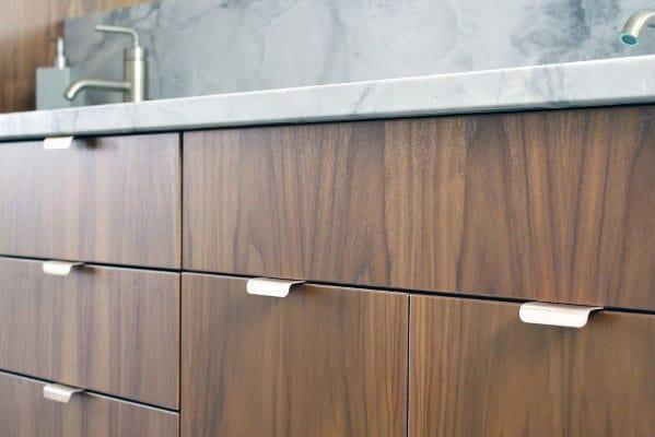 Small Modern Pull Tabs Kitchen Cabinet Hardware Ideas
