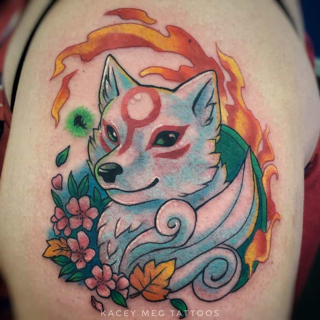 Small Okami Tattoos Infiniteworldstattoo